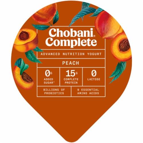 Chobani Complete Peach Lactose-Free Yogurt Perspective: top