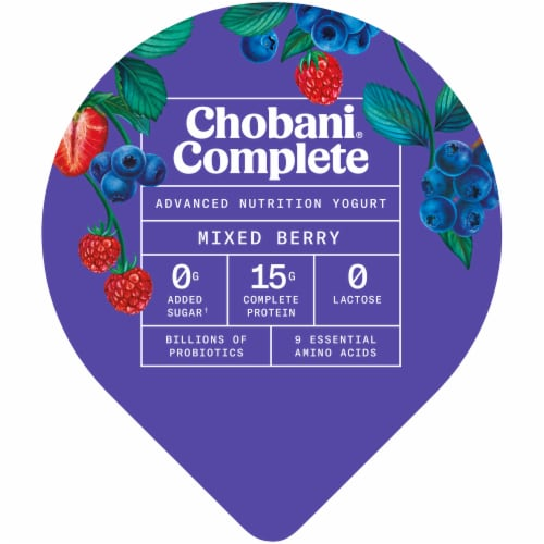 Chobani Complete Ultra Cup Mixed Berry Yogurt Perspective: top