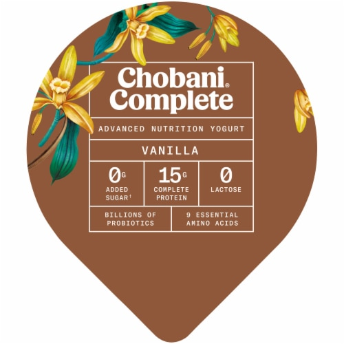 Chobani Complete Vanilla Advanced Nutrition Greek Yogurt Perspective: top