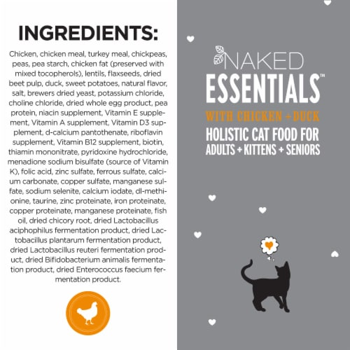 I and Love and You Naked Essentials Chicken & Duck Dry Cat Food Perspective: top