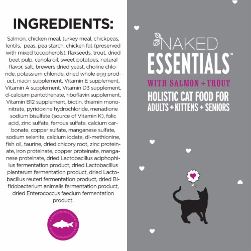 I and Love and You Naked Essentials Salmon & Trout Dry Cat Food Perspective: top