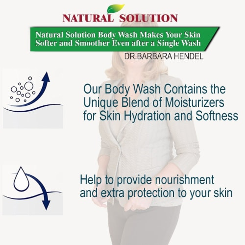 Natural Solution Body Wash, Purifying Pink Salt, Best for All Skin Types, Blood Orange–Pack 6 Perspective: top