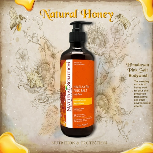 Natural Solution Body Wash, Daily Care for All Skin Types, Natural Honey - Pack of 6 Perspective: top