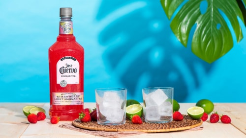 Jose Cuervo Strawberry Ready-To-Drink Margarita Perspective: top