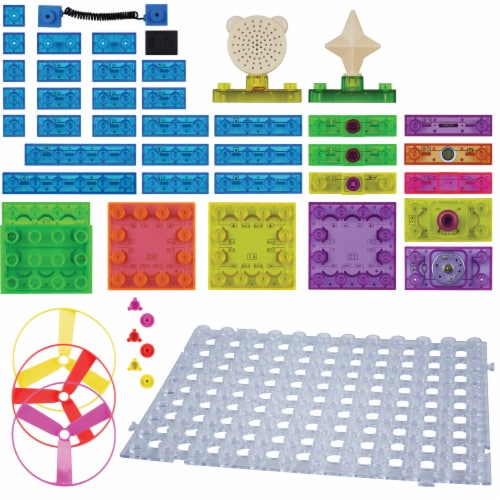 E-Blox Circuit Blox LED Colorful Building Set Perspective: top