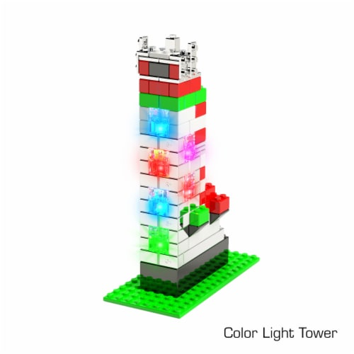 E-Blox Power Blox LED 3D Building Set Perspective: top