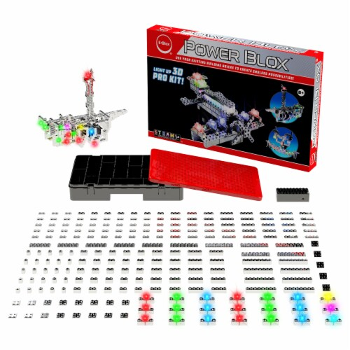 E-Blox Power Blox Circuit Building Toy Perspective: top