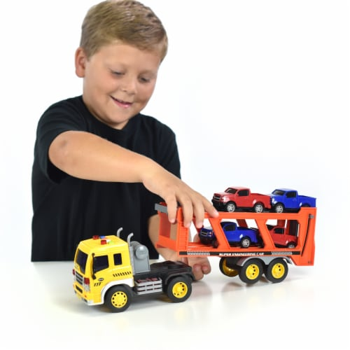Sunny Days Maxx Action Trucks Long Haul Vehicle Transportation Playset Perspective: top