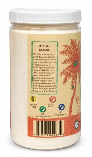 Organic Coconut Flour 18 oz  PET Jar Perspective: top
