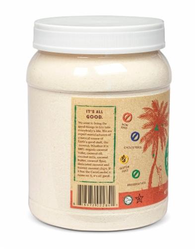 Organic Coconut Flour 36 oz, PET Jar Perspective: top