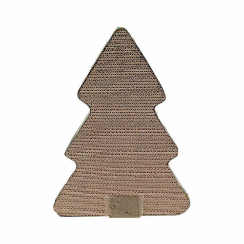Midlee Christmas Tree Shaped Cat Scratcher Perspective: top