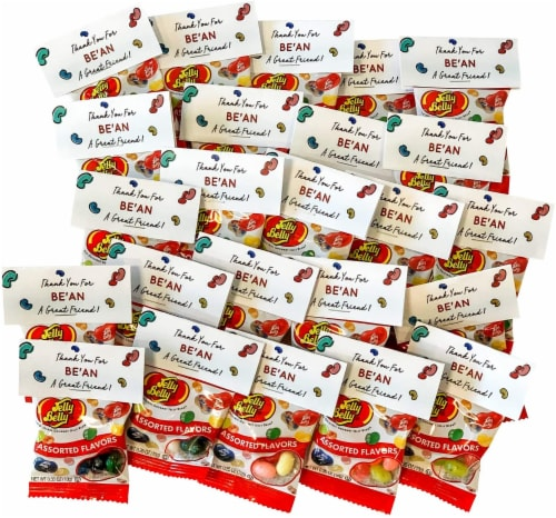 Midlee Thank You for BE'AN my Friend Jelly Bean Valentine Party Favors- Set of 24 Perspective: top
