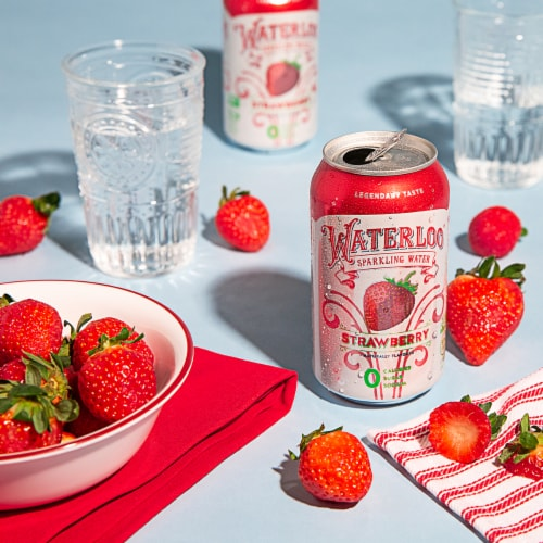 Waterloo Strawberry Sparkling Water Perspective: top