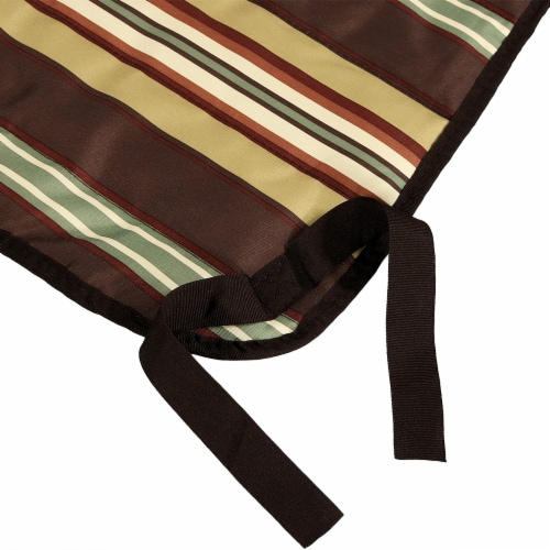 Sunnydaze Polyester Quilted Hammock Pad and Pillow Only Set - Desert Stripe Perspective: top