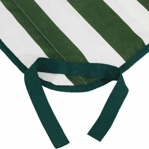 Sunnydaze Polyester Quilted Hammock Pad and Pillow Only Set - Green-White Stripe Perspective: top