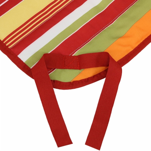 Sunnydaze Outdoor Polyester Quilted Hammock Pad/Pillow Only Set-Tropical Orange Perspective: top