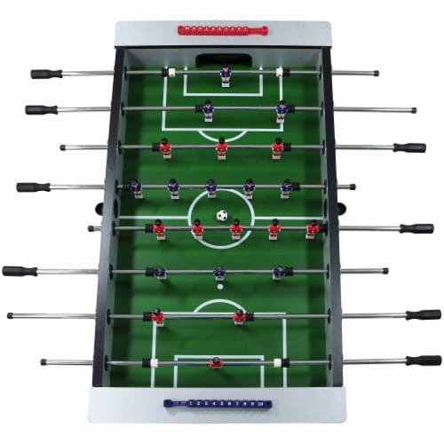 """Sunnydaze 55"""" Metallic Foosball Soccer Arcade Sports Table for Game Room Perspective: top"""