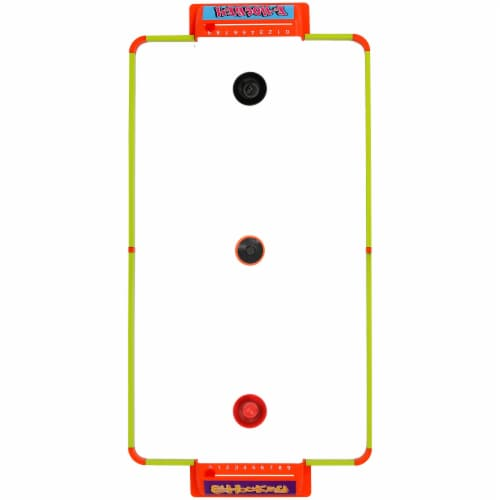 """Sunnydaze Portable Hover Tabletop Air Hockey Game Set with USB Charger - 40"""" Perspective: top"""