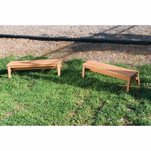 Kaplan Early Learning Outdoor Wooden Stacking Benches  - Set of 2 Perspective: top