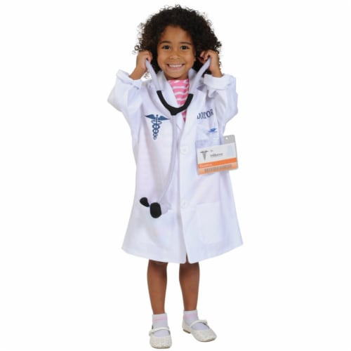 Kaplan Early Learning Doctor Career Dramatic Play Dress Up Costume Perspective: top