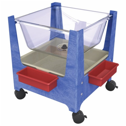 ChildBrite See-All Sand & Water Activity Center - Blue Perspective: top