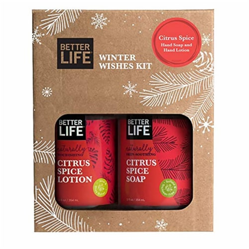 Better Life Citrus Spice Winter Wishes Kit with 12 Ounce Hand Soap and Lotion Perspective: top