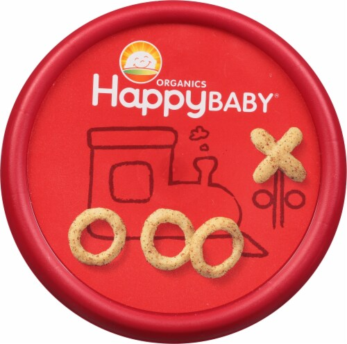 Happy Baby® Snackers™ Organic Tomato and Basil Baked Grain Snack Perspective: top
