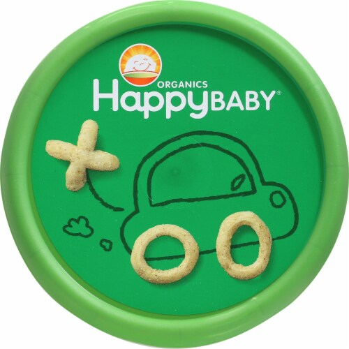 Happy Baby Organic Snackers Gluten Free Creamy Spinach & Carrot Baked Grain Snack Perspective: top