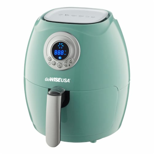 GoWISE USA GW22661 2.75-Quart Digital 50 Recipes for your Air Fryer Book, Mint Perspective: top