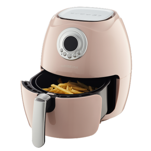 GoWISE USA 2.75-Quart Digital 50 Recipes for your Air Fryer Book, QT, Blush Perspective: top