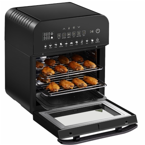 GoWISE USA Ultra 12.7-Quart Electric Air Fryer Oven, Black Perspective: top