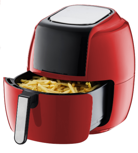 GoWISE USA 8-in-1 Digital Air Fryer, 7.0-Qt, Red Perspective: top