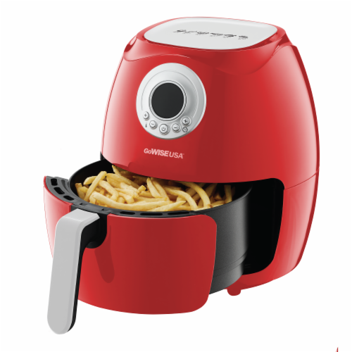 GoWISE USA 3.7-Quart Digital Air Fryer, Red Perspective: top