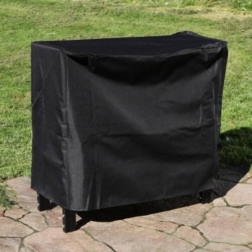 Sunnydaze Log Rack Cover Heavy-Duty Waterproof Weather-Resistant PVC - 2' Perspective: top