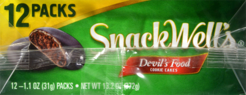SnackWell's Devils Food Cookie Cakes Multipack 12 Count Perspective: top
