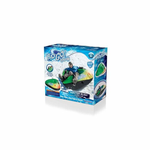 """H2OGO! Snow Winter Rush 39"""" Inflatable Covered Snow Riding Fabric Sledding Tube Perspective: top"""