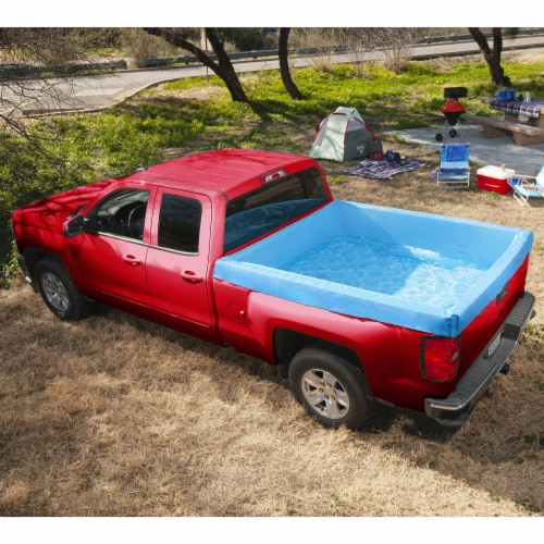 Bestway 54283E Portable Standard 5.5 Foot Payload Pickup Truck Bed Swimming Pool Perspective: top