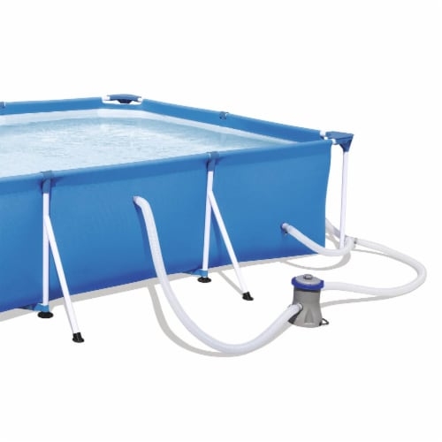 Bestway Steel Pro 9.8ft x 6.6ft x 26in Above Ground Swimming Pool Set with Pump Perspective: top