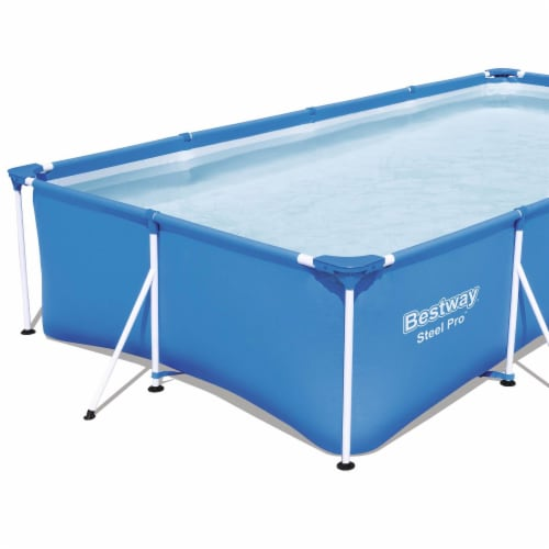 Bestway Steel Pro 13' x 7' x 32  Rectangular Frame Above Ground Swimming Pool Perspective: top