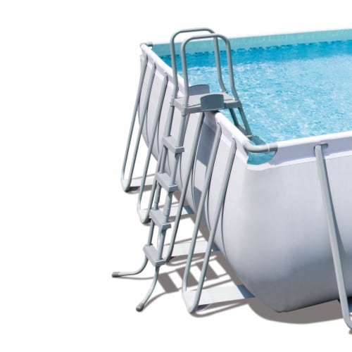Bestway 56625E Power Steel 31ft x 16ft x 52in Rectangular Above Ground Pool Set Perspective: top