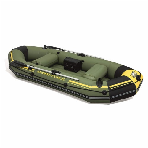 """Bestway Hydro Force Marine Pro 115"""" Inflatable 2 Person Boat Raft w/ Oars & Pump Perspective: top"""