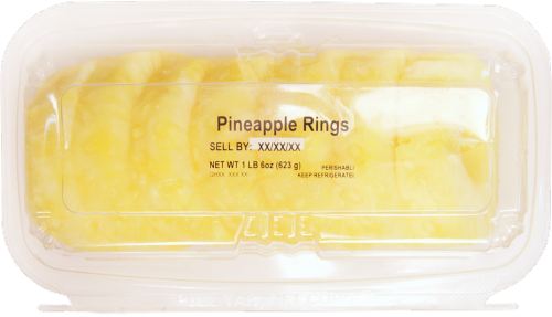 Fresh Kitchen Fresh Sliced Pineapple Rings Perspective: top