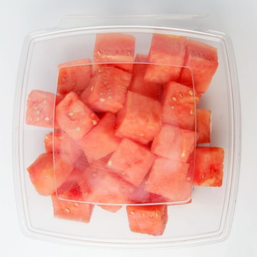 Fresh Kitchen Watermelon Chunks Perspective: top