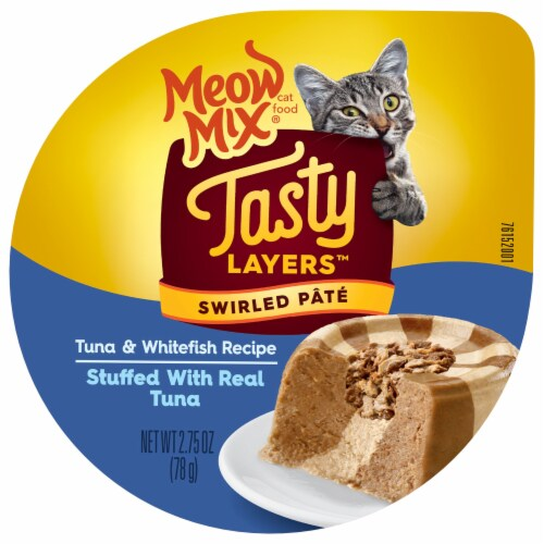 Meow Mix Tasty Layers Tuna and Whitefish Wet Cat Food Perspective: top