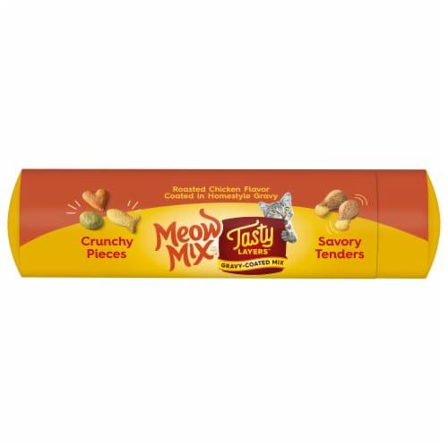 Meow Mix Tasty Layers Roasted Chicken and Homestyle Gravy Flavor Dry Cat Food Perspective: top
