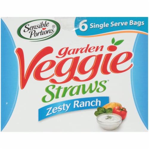 Sensible Portions  Zesty Ranch Garden Veggie Straws Perspective: top