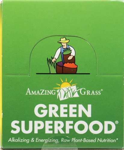 Amazing Grass Lemon-Lime Green Superfood Energy Powder Perspective: top