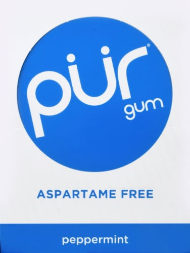 Pur Gum Peppermint Gum (12 Pack) Perspective: top
