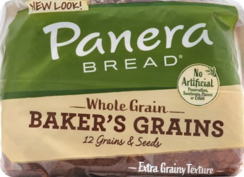Panera Bread Whole Grain Baker's Grains Sliced Bread Perspective: top