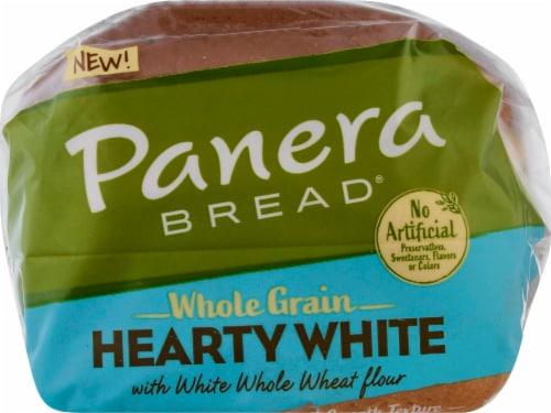 Panera Bread Whole Grain Hearty White Sliced Bread Perspective: top